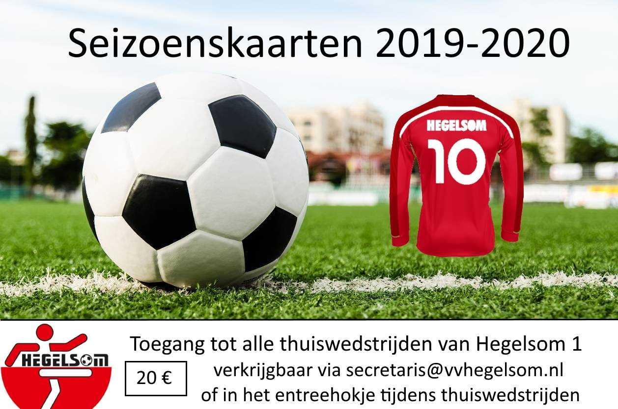 Bezoek alle thuiswedstrijden van eerste elftal met de seizoenskaart!