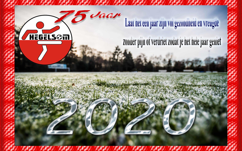vv Hegelsom wenst iedereen Fijne feestdagen en een voorspoedig 2020 toe